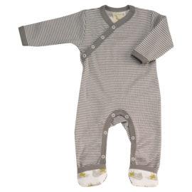 Pijamale Copii din Bumbac Organic, gri cu dungi
