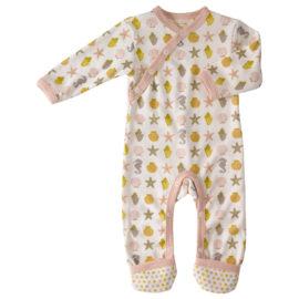 Pijamale Copii din Bumbac Organic, Căluți de Mare Roz