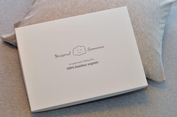Cearceaf pat din bumbac organic Ege Organics - cutie cadou