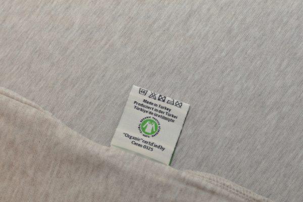 Lenjerie bumbac organic Ege Organics - eticheta